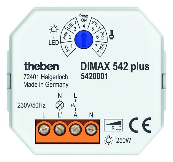 1 Stk DIMAX 542 plus Unterputz Dimmer für ESL+230V LED 5420001