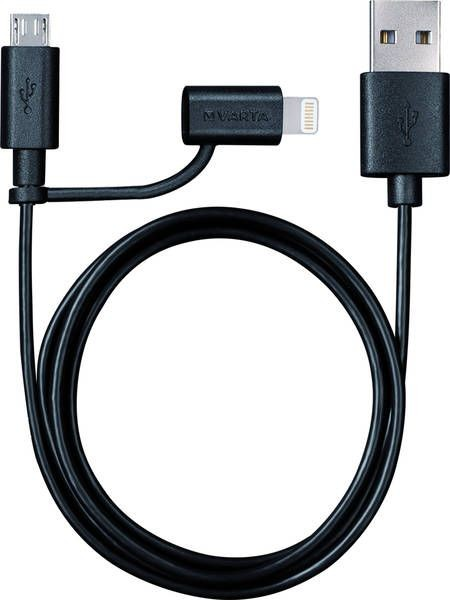 1 Stk 2in1 Charge+Sync Cable Lightning+Micro USB 57943101401
